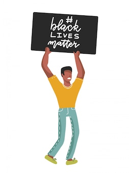 Slogan z napisem black lives matter