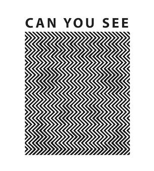 Slogan z ukrytą koncepcją złudzenia optycznego pandy