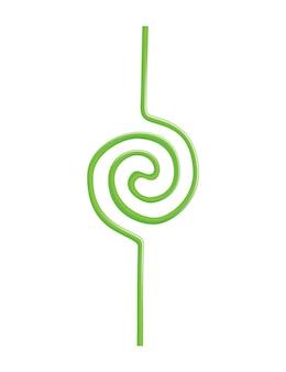 Słomka do picia w abstrakcyjny wzór lub formę. kolorowa jednorazowa plastikowa i elastyczna słomka do soków i koktajli do napojów. ilustracja wektorowa zakrzywionej linii rur