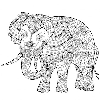 Słoń ilustracja