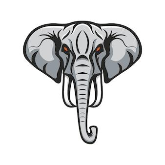 Słoń logo maskotka sport wektor ilustracja