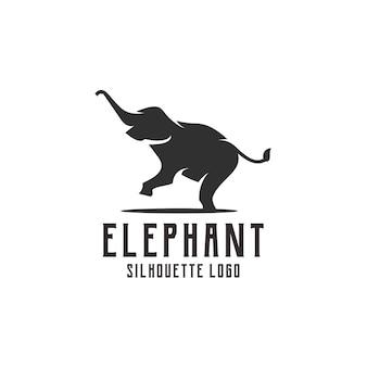 Słoń sylwetka logo ilustracja streszczenie