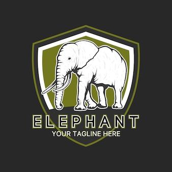 Słoń szablon logo