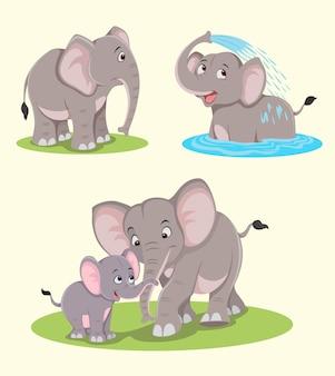 Słoń wektor wzór