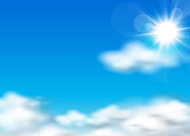 Słońce i niebo w tle