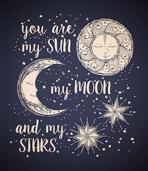 Słońce, księżyc i gwiazdy