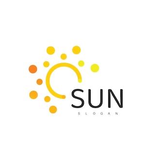 Słońce logo szablon ikona projektu ilustracja