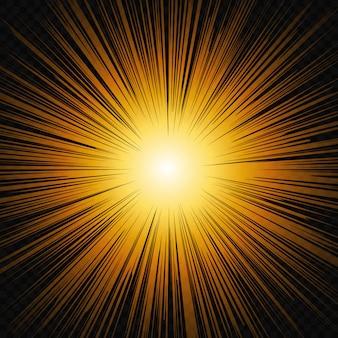 Słońce świeci blask światła