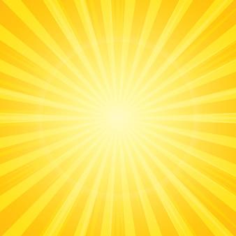 Słońce z promieni tła