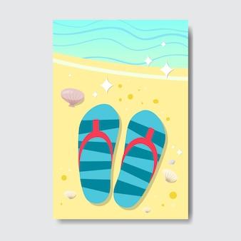 Słoneczna plaża znaczek na białym tle typograficzne projekt etykiety