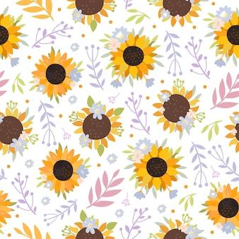 Słoneczniki bez szwu wzór