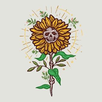 Słonecznikowa czaszka