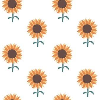 Słonecznikowy wzór słoneczny kwiat wydruku