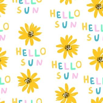 Słonecznikowy wzór, witaj słońce