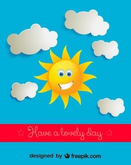 Słoneczny Dzień, Ilustracji Wektorowych Darmowych Wektorów