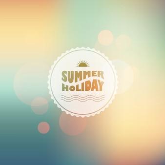 Słoneczny połysk tło z letniego tekstu