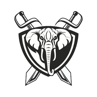 Słonia loga maskotki sporta ilustracja