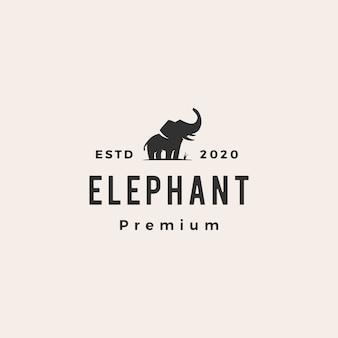Słonia modnisia rocznika loga ikony ilustracja
