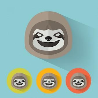 Sloth płaski portret