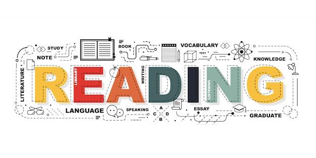 Słowo czytanie baner