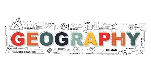 Słowo geografia banner