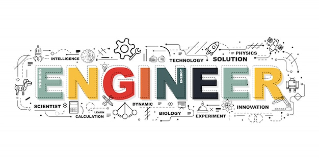 Słowo ingineer banner