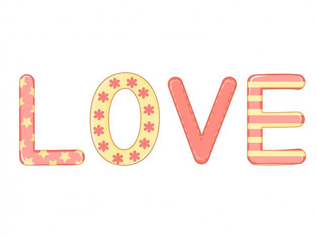 Słowo miłość kreskówka