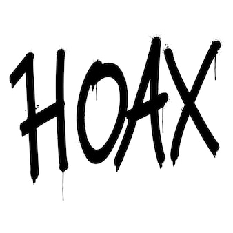Słowo mistyfikacja graffiti spryskane na białym tle