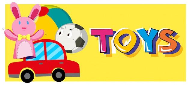 Słowo zabawki i różne rodzaje zabawek