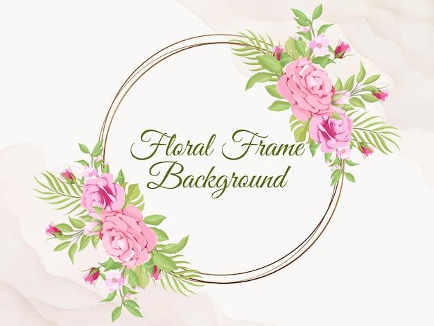 Ślub banner tło flora szablon wektor