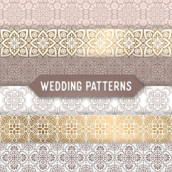 Ślub bezszwowych wzór streszczenie ozdobnych wzorca