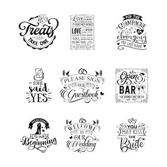 Ślub cytaty typografii napis na projekt koszulki