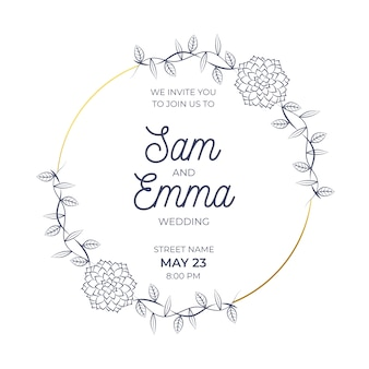 Ślub kwiatowy rama ceremonii