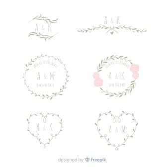 Ślub kwiatowy ramki