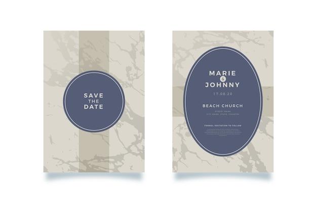 Ślub szablon marmurowe karty koncepcja