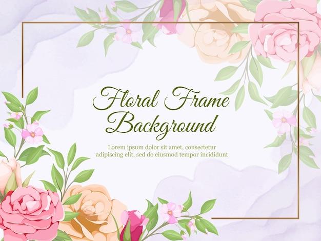 Ślub transparent tło lato kwiatowy wzór