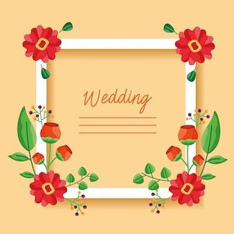 Ślub zapisz datę kwiaty karty