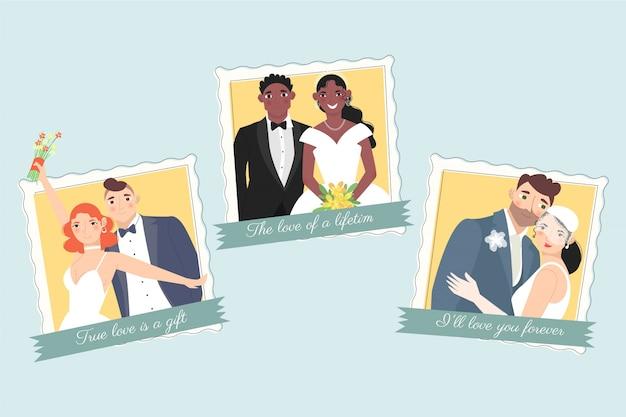 Ślubna miłość pary na całe życie
