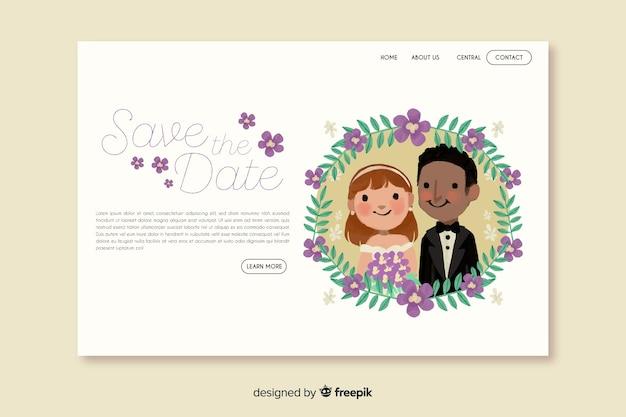 Ślubna strona docelowa z parą