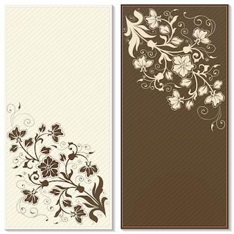 Ślubna zaproszenie i zawiadomienie karta z kwiecistą tło grafiką