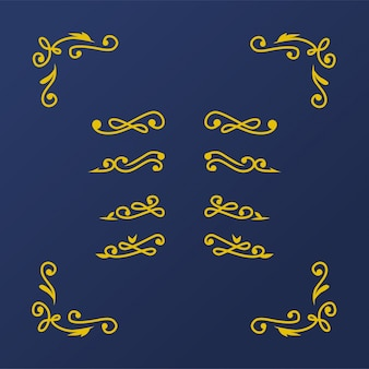 Ślubny rocznik florish element
