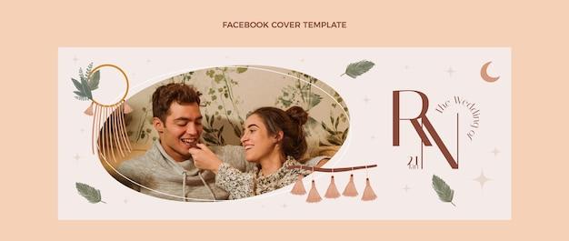 Ślubny szablon projektu okładki na facebook