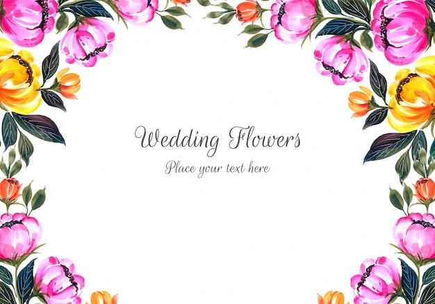 Ślubnych dekoracyjnych kwiatów ramowy tło