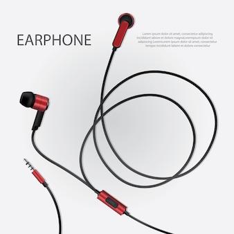 Słuchawki muzyczne na białym tle
