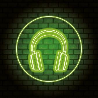 Słuchawki neonowe