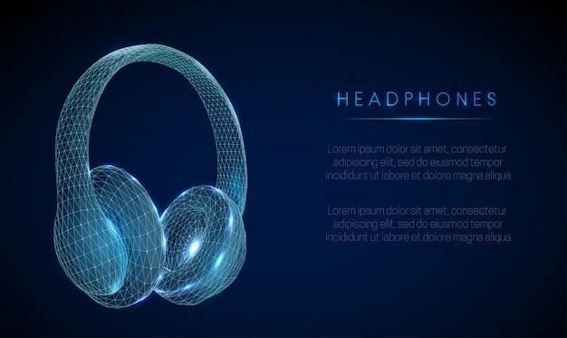 Słuchawki w stylu low poly abstarct