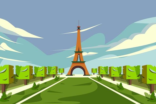 Słynna ilustracja z wieży eiffla