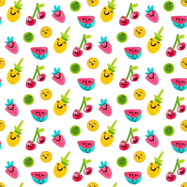 Smakowity i słodki lato owoc sztuki wzór