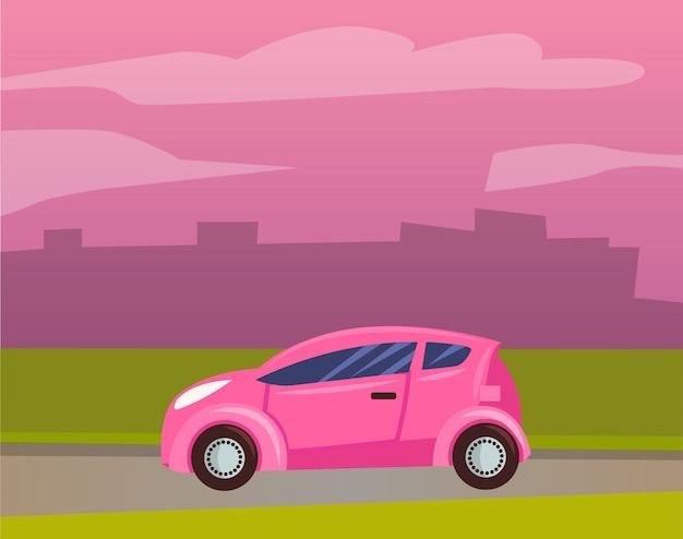 Smart car vehicle transport jazda konna cityscape