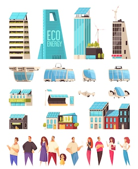 Smart city housing centrum biznesowe udogodnienia obywatele smartfony system powiadomień usługi transport technologia płaski zestaw